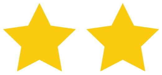 2 stars rating
