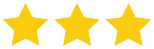 3 Stars rating