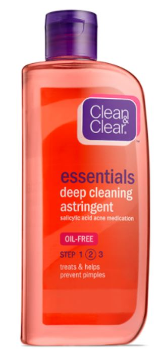 Clean & Clear Deep Cleaning  (contains salicylic acid)